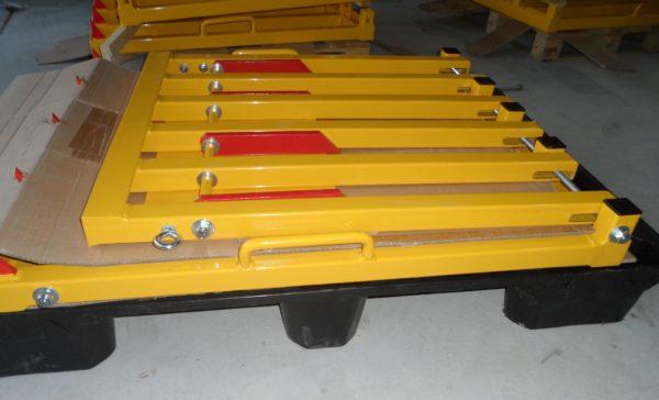 module replié et stocké