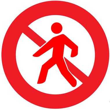 autocollant zone interdite cobra
